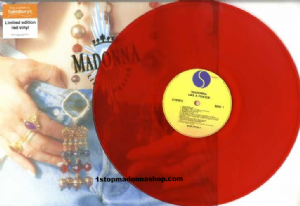 LIKE A PRAYER - UK LIMITED EDITION RED VINYL LP